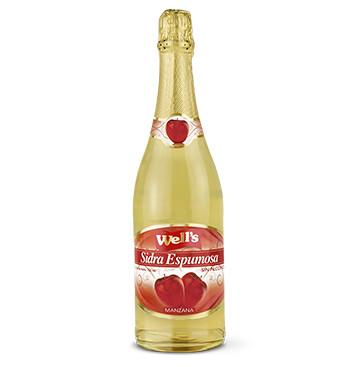 Botella Sidra - Wells - sin alcohol - 750ml - Sabor Manzana
