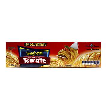 Spaghetti - La Moderna - 200 g. / Caja - Sabor salsa de tomate
