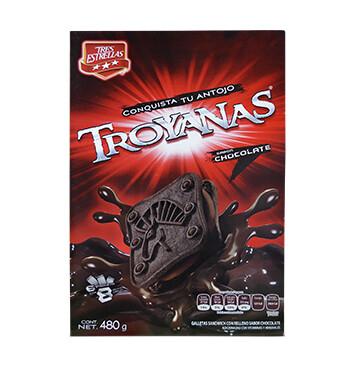 Caja Galletas Troyanas - La Moderna - 480 g. - Sabor chocolate