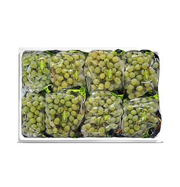 Caja de Uva verde sin semillas - 21 Libras