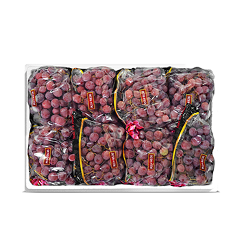 Caja de Uvas Red Globe con semillas - 23 Libras