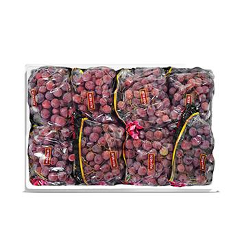 Caja de Uvas Red Globe con semillas - 18 Libras