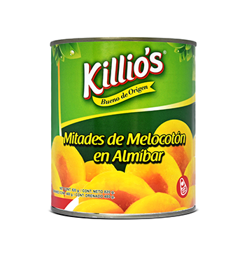 Mitades de Melocotón en Almíbar Killio's® - 820 gramos