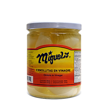 Cebollitas en Vinagre Miguel's® - 16 oz
