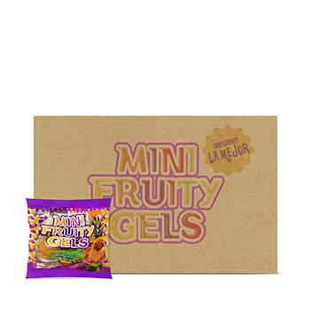 Caja de Mini Gelatinas Mini Fruity Gels® Bolsa Tradicional - 120x75g