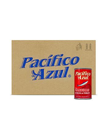 Caja de Sardinas Pacífico Azul® - Salsa de Tomate - 48x160g