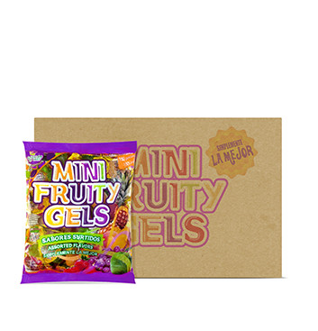 Caja de Mini Gelatinas Mini Fruity Gels® Bolsa Tradicional - 6x1500g
