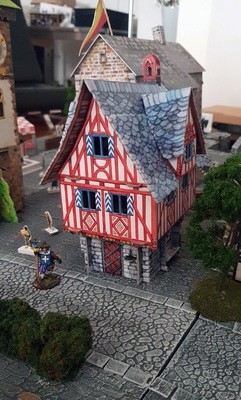 Merchant's House - Medieval City Buildings, Cardboard (Assembled or not)