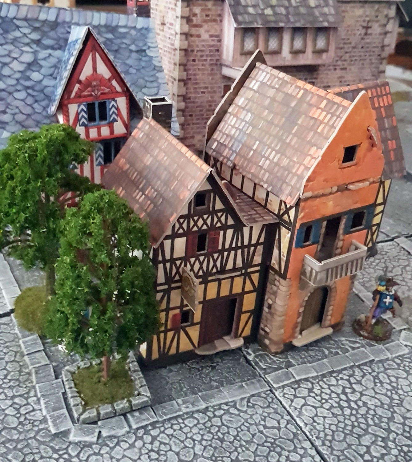 Bakery - Medieval City Buildings, Cardboard (Assembled or not)