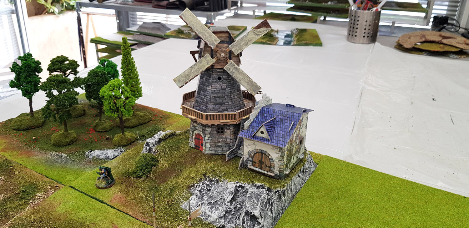 Windmill- Medieval City Buildings, Cardboard (Assembled or not)