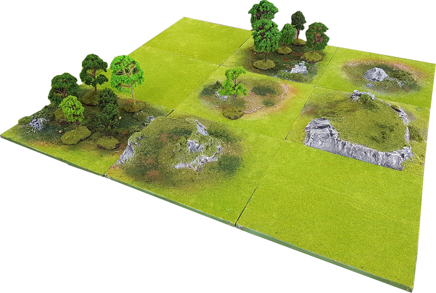 3'x3' FOREST DELL Battlefield Set +BONUS WALL*