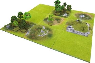 3'x3' FOREST DELL Battlefield Set +BONUS WALL*