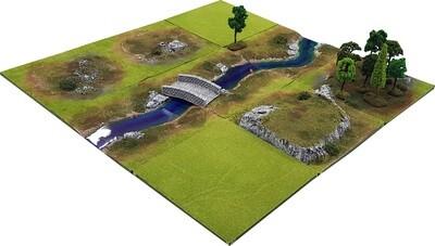 3'x3' STREAM VALE Battlefield Set +BONUS BRIDGE*