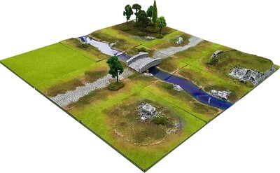 3'x3' STREAM FORD Battlefield Set +BONUS BRIDGE*