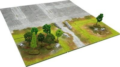 3'x3' SUBURBS Battlefield Set +BONUS WALL*
