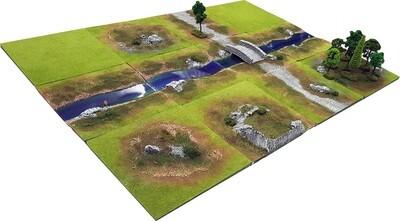 4'x3' RIVER GLEN Battlefield Set +BONUS BRIDGE*