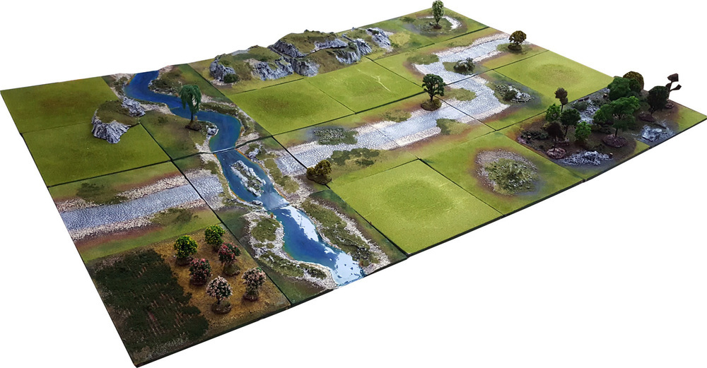 6'x4' RIVER CROSSING Battlefield Set