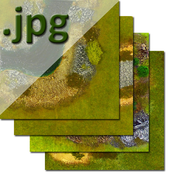"""Green Spring"" Theme Outdoors Tiles - Digital Images"