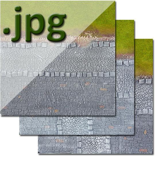 """Transition"" Urban Tiles, Green Spring to Medieval - Digital Images"