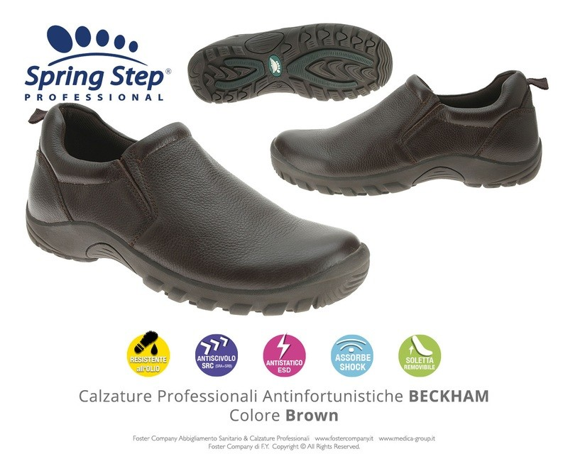 Calzature Professionali Spring Step BECKHAM Colore Brown