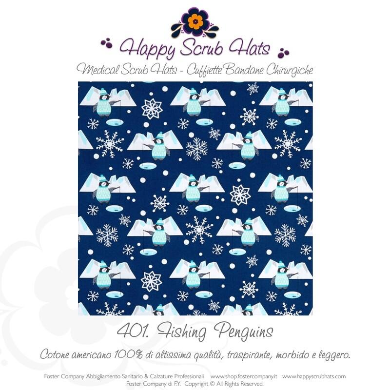 401. HAPPY SCRUB HATS Bandana Professionale Cappellino Chirurgico