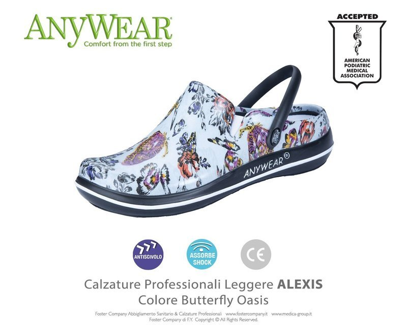 Calzature Professionali Anywear ALEXIS Colore Butterfly Oasis ULTIMO NUMERO