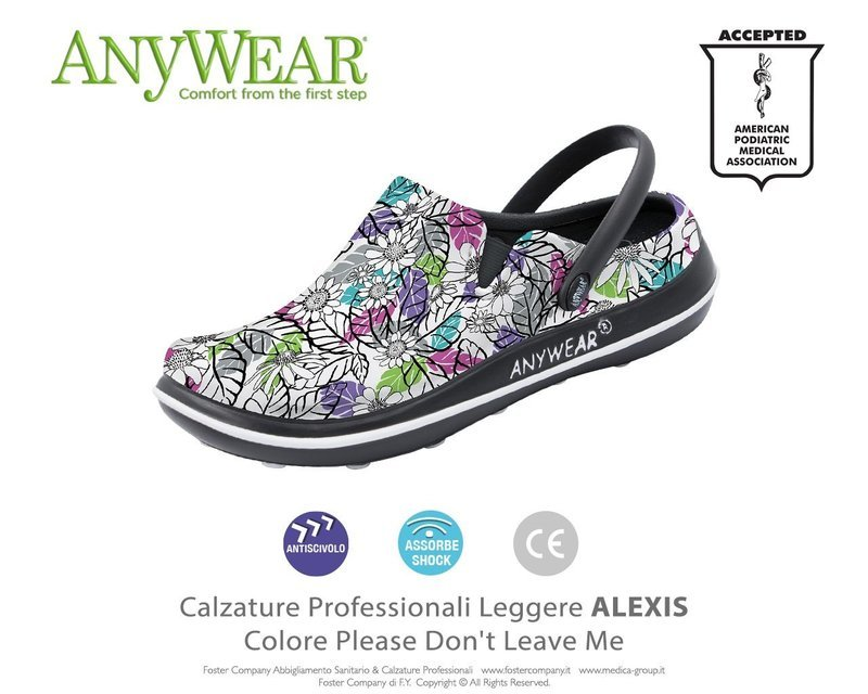 Calzature Professionali Anywear ALEXIS Colore Please Don't Leaf Me FINE SERIE
