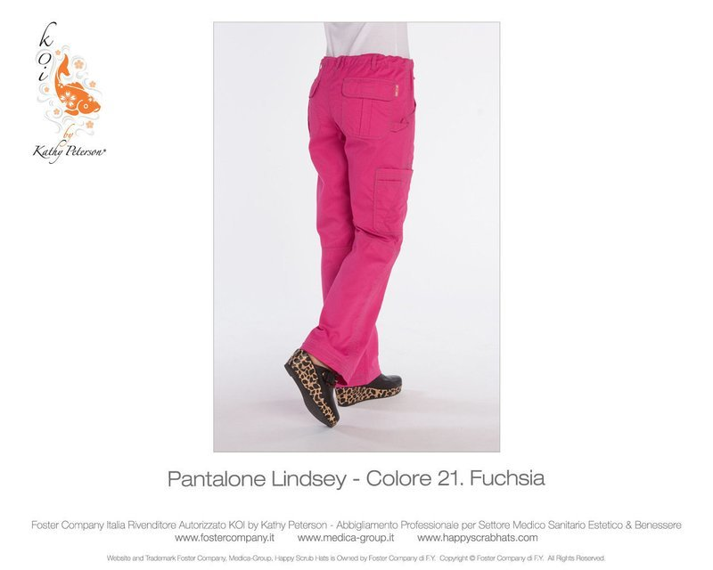 Pantalone KOI CLASSICS LINDSEY Donna Colore 21. Fuchsia- FINE SERIE