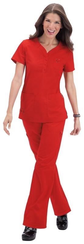 Casacca KOI SOLIDS Josie Colore 88. Chili Red - FINE SERIE