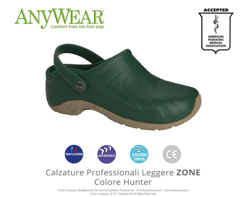 Calzature Professionali Anywear ZONE Colore Hunter * ULTIME PAIA-EXTRA SCONTO *