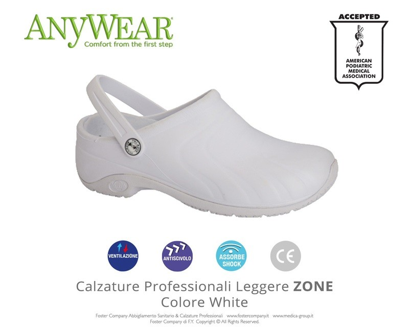 Calzature Professionali Anywear ZONE Colore White