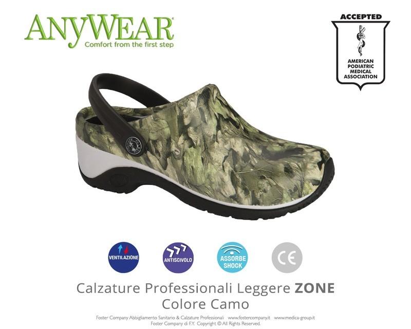 Calzature Professionali Anywear ZONE Colore Camo FINE SERIE