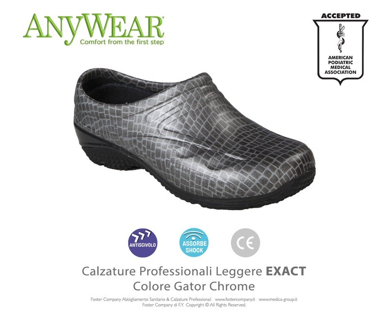 Calzature Professionali Anywear EXACT Colore Gator Chrome FINE SERIE