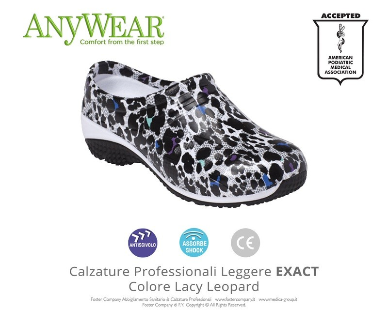 Calzature Professionali Anywear EXACT Colore Lacy Leopard FINE SERIE