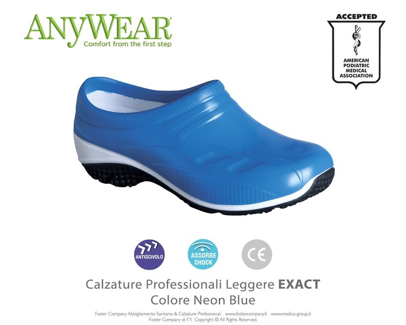 Calzature Professionali Anywear EXACT Colore Neon Blue FINE SERIE