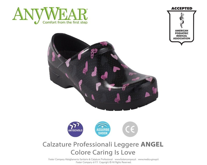 Calzature Professionali Anywear ANGEL Colore Caring is Love ULTIMI NUMERI