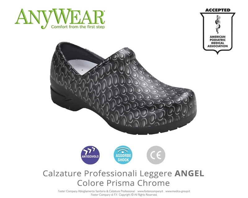Calzature Professionali Anywear ANGEL Colore Prisma Chrome ULTIMI NUMERI