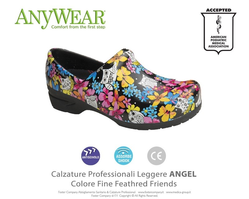 Calzature Professionali Anywear ANGEL Colore Feathred Friends