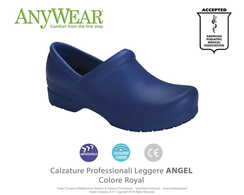 Calzature Professionali Anywear ANGEL Colore Royal ULTIMI NUMERI