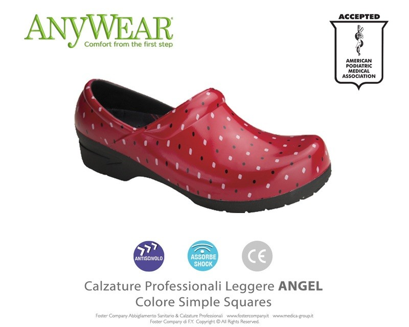 Calzature Professionali Anywear ANGEL Colore Simple Squares ULTIMO PAIO