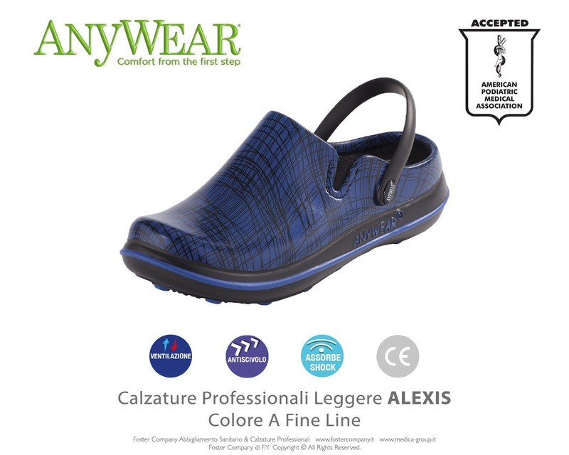 Calzature Professionali Anywear ALEXIS Colore A Fine Line ULTIMO PAIO