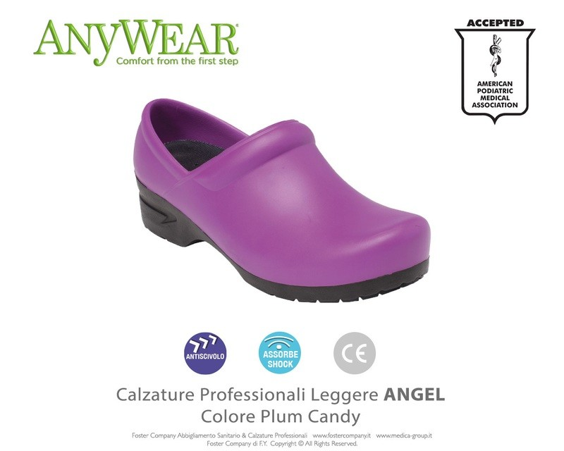 Calzature Professionali Anywear ANGEL Colore Plum Candy FINE SERIE