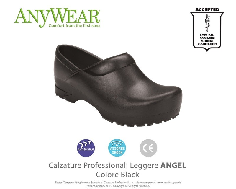 Calzature Professionali Anywear ANGEL Colore Black ULTIMO NUMERO