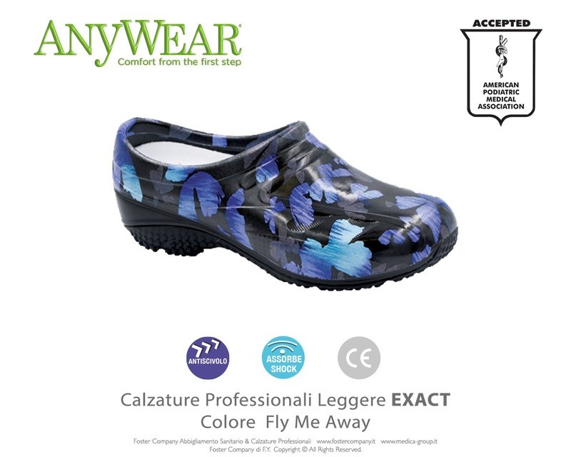 Calzature Professionali Anywear EXACT Colore Fly Me Away FINE SERIE