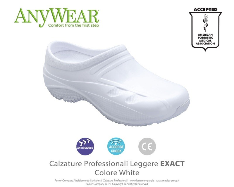 *OFFERTA* Calzature Professionali Anywear EXACT Colore White - FINE SERIE