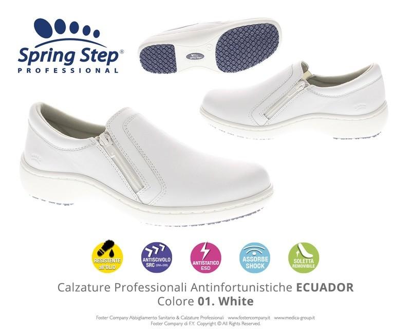 Calzature Professionali Spring Step ECUADOR Colore 01. White