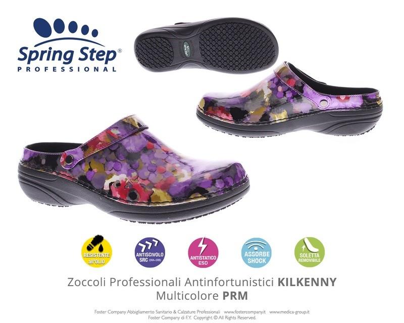 Zoccoli Professionali Spring Step KILKENNY Multicolore PRM