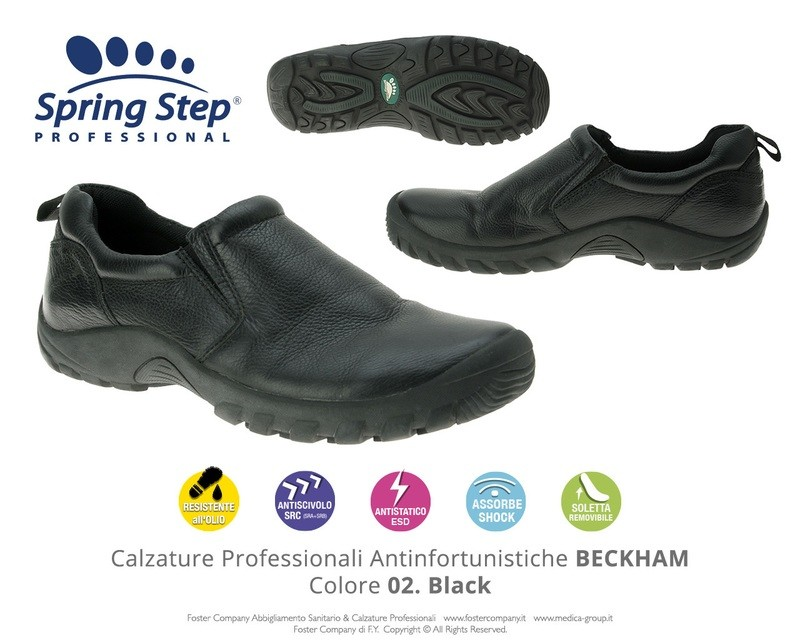 Calzature Professionali Spring Step BECKHAM Colore 02. Black