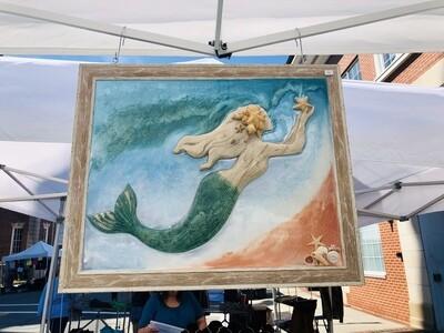 Large Mermaid with Sea Star