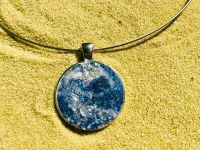 Glittery Ocean Necklace